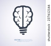 light bulb brain icon  vector... | Shutterstock .eps vector #237612166