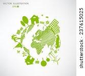 environmentally friendly world. ... | Shutterstock .eps vector #237615025
