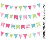 set of multicolored flat... | Shutterstock .eps vector #237618892