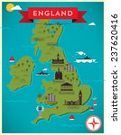 map of england illustration | Shutterstock .eps vector #237620416