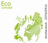 environmentally friendly world. ... | Shutterstock .eps vector #237625912