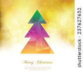 colorful christmas tree | Shutterstock .eps vector #237627652