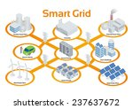 smart grid image illustration ... | Shutterstock .eps vector #237637672