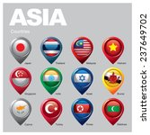 asia countries   part  three | Shutterstock .eps vector #237649702