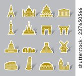 famous scenic spots color icon... | Shutterstock .eps vector #237650566