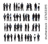 silhouettes of business people... | Shutterstock .eps vector #237653395