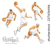 illustrations set of basketball ... | Shutterstock .eps vector #237656446