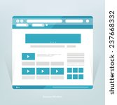 simple flat blue browser window ... | Shutterstock .eps vector #237668332