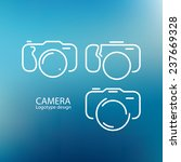 camera icon  logo design on... | Shutterstock .eps vector #237669328