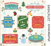 merry christmas and happy new... | Shutterstock . vector #237674545