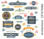 vintage design elements frames... | Shutterstock . vector #237674686