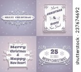 merry christmas and happy new... | Shutterstock . vector #237674692