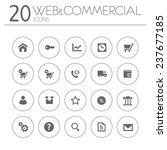 simple thin web commercial... | Shutterstock .eps vector #237677185