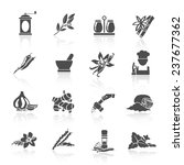 herbs and spices black icons... | Shutterstock . vector #237677362