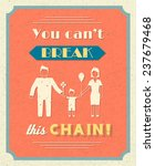 family retro poster with... | Shutterstock . vector #237679468