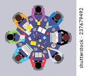 business team brainstorming... | Shutterstock . vector #237679492