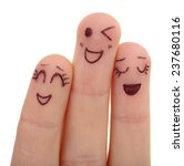emotional fingers isolated on... | Shutterstock . vector #237680116