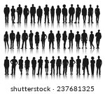 silhouette of business and... | Shutterstock .eps vector #237681325