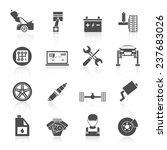 auto car service icons black...   Shutterstock . vector #237683026