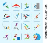 extreme sports icons of diving... | Shutterstock . vector #237684235