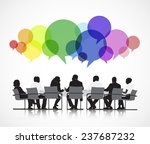vector of business meeting | Shutterstock .eps vector #237687232