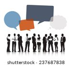 silhouettes of business people... | Shutterstock .eps vector #237687838