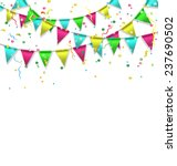 multicolored bright buntings... | Shutterstock . vector #237690502