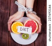 the concept of eating disorders ... | Shutterstock . vector #237693166