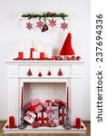Fireplace With Christmas Boxes...
