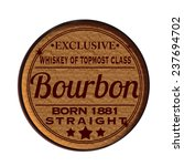 label stamp with text bourbon... | Shutterstock .eps vector #237694702