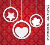 white rings with heart  star... | Shutterstock .eps vector #237698428