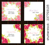 wedding invitation cards with... | Shutterstock .eps vector #237703135