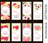wedding invitation cards with... | Shutterstock .eps vector #237703156