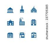 houses. vector icons | Shutterstock .eps vector #237705385