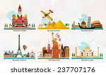 travel and tourism locations | Shutterstock .eps vector #237707176