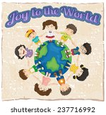 a joy to the world template on... | Shutterstock .eps vector #237716992