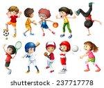 illustration of children... | Shutterstock .eps vector #237717778
