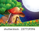 a mushroom house under the... | Shutterstock .eps vector #237719596