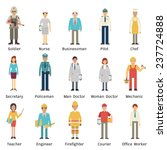 cartoon character set of people ... | Shutterstock .eps vector #237724888