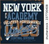 new york academy tee graphic | Shutterstock .eps vector #237730408