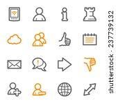 social media web icons | Shutterstock .eps vector #237739132