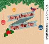 christmas background with bird... | Shutterstock .eps vector #237740776