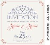 invitation card design. vector... | Shutterstock .eps vector #237755806