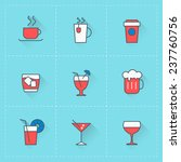 beverages icons. vector icon...