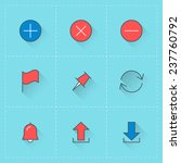 vector icon set in flat design...