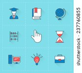 education icons. vector icon...