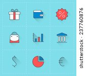 business icons. vector icon set ...