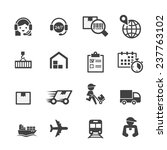 shipping icon set   Shutterstock .eps vector #237763102