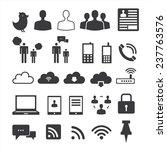 internet icons set | Shutterstock .eps vector #237763576