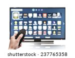 smart tv uhd 4k controled by... | Shutterstock . vector #237765358